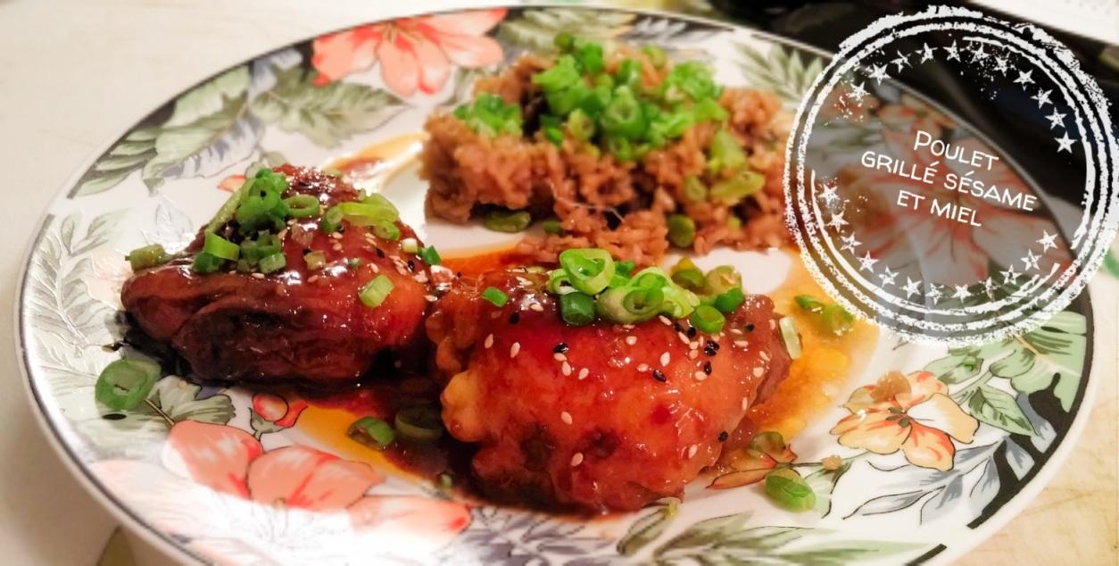 Poulet grillé sésame et miel - Auboutdelalangue.com